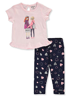 Baby Girls' 2-Piece Leggings Set Outfit by DKNY in Pink