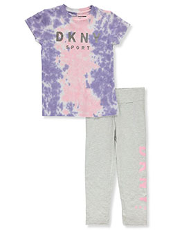 Girls' 2-Piece Leggings Set Outfit by DKNY in Pink