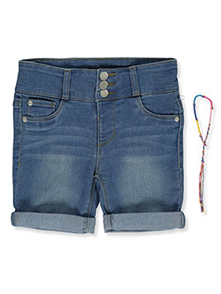 Girls' Denim Short Shorts by DKNY in bleeker, endless sky and partridge