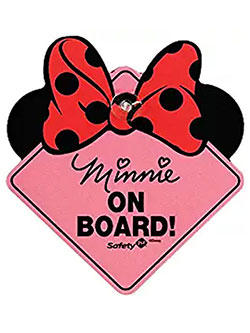 Minnie Mouse On-Board Sign by Disney in Pink