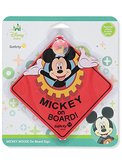 Mickey Mouse On-Board Sign by Disney in Red, Infants