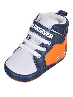 "Quiksilver Baby Boys' ""Contrast Panel & Strap"" Hi-Top Booties - CookiesKids.com"