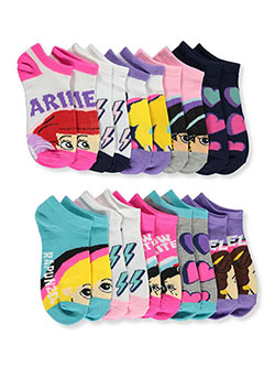 Princess 10-Pack Low-Cut Socks by Disney in Purple