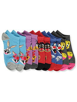 Girls' 5-Pack Low-Cut Socks by Looney Tunes in Charcoal heather