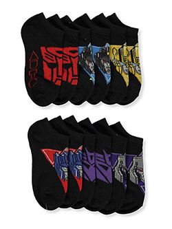 Boys' 6-Pack Low-Cut Socks by Transformers in Black