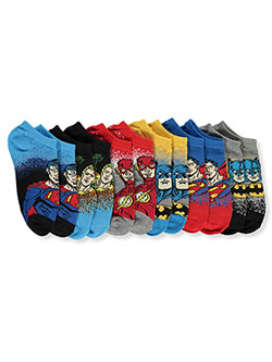 Justice League Boys' 6-Pack Low-Cut Socks by DC Comics in Light heather gray