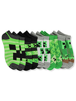 Boys' 5-Pack Low-Cut Socks by Minecraft in Navy/gray