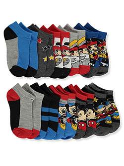 Mickey Mouse Boys' 10-Pack Socks by Disney in Light heather gray