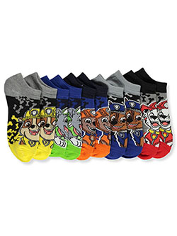 Paw Patrol Boys' 5-Pack Low-Cut Socks by Nickelodeon in Black