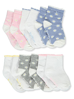 Baby Girls' 6-Pack Socks by Bebe in Multi