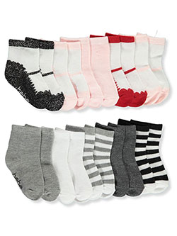 Baby Girls' 10-Pack Socks by Bebe in Multi