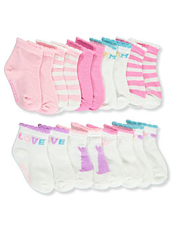 9-Pack Quarter Crew Socks by Juicy Couture in Multi
