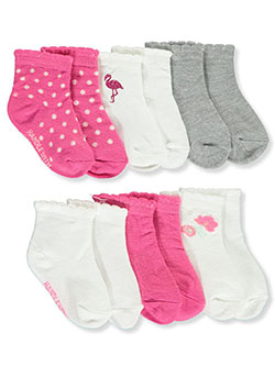 6-Pack Quarter Crew Socks by Juicy Couture in Multi