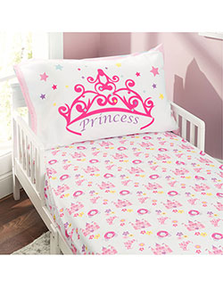 4-Piece Toddler Bedding Set by Everyday Kids in Blue/pink/green - $29.99