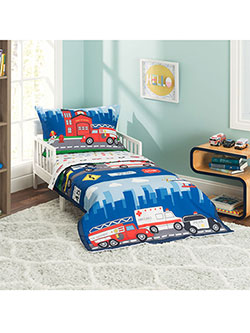 4-Piece Toddler Bedding Set by Everyday Kids in Blue/multi
