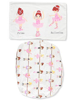 2-Piece Toddler Sheet Set by Everyday Kids in White/multi, Infants