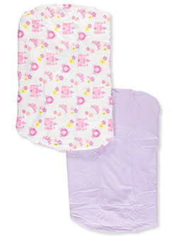 2-Pack Fitted Crib Sheets by Everyday Kids in Purple/white, Infants