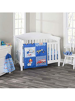 4-Piece Crib Set by Everyday Kids in Blue/multi