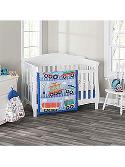 4-Piece Crib Set by Everyday Kids in Light blue/multi
