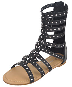 "Eddie Marc Girls' ""Diamond Punch & Studs"" Gladiator Sandals (Youth Sizes 13 – 4) - CookiesKids.com"