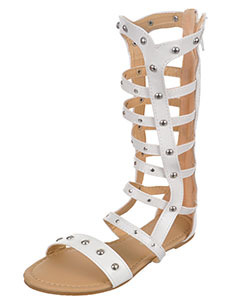 "Eddie Marc Girls' ""Stud Strap"" Gladiator Sandals (Youth Sizes 13 – 4) - CookiesKids.com"