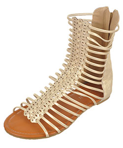 "Eddie Marc Girls' ""Punch Strap"" Gladiator Sandals (Youth Sizes 13 – 4) - CookiesKids.com"