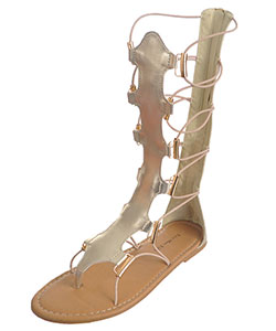 "Eddie Marc Girls' ""Scallop Strap"" Gladiator Sandals (Youth Sizes 13 – 4) - CookiesKids.com"