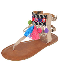 "Eddie Marc Girls' ""Mercado"" Sandals (Youth Sizes 13 – 4) - CookiesKids.com"