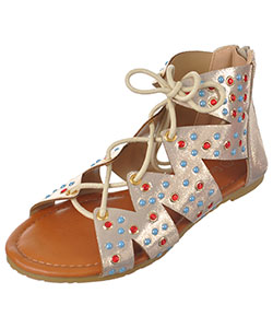 "Eddie Marc Girls' ""Gemmy"" Sandals (Youth Sizes 13 – 4) - CookiesKids.com"