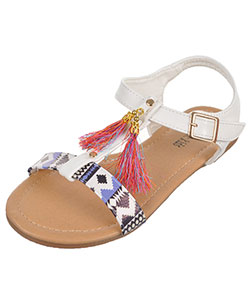 "Eddie Marc Girls' ""Gilded Tassel"" Sandals (Toddler Sizes 5 – 12) - CookiesKids.com"