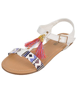 "Eddie Marc Girls' ""Gilded Tassel"" Sandals (Youth Sizes 13 – 4) - CookiesKids.com"