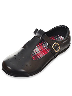 "Girls' ""Snowflake Circle"" Mary Janes by Eddie Marc in Black"