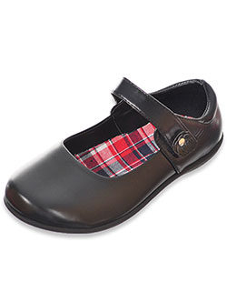 "Girls' ""Daisy Twirl"" Mary Janes by Eddie Marc in Black"