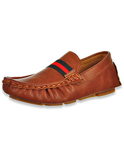 Boys' Driving Loafers by Eddie Marc in Tan