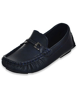 Boys' Driving Loafers by Eddie Marc in Navy