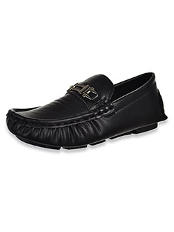 Boys' Buckled Driving Loafers by Eddie Marc in Black