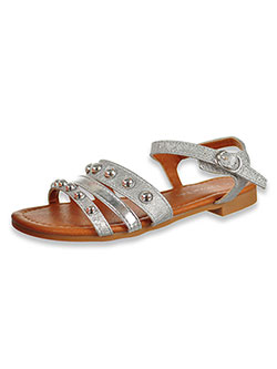 Girls' Studded Strap Sandals by Eddie Marc in Silver