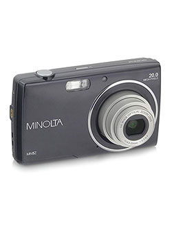 20 Mega Pixels Hd Digital Camera W/5X Optical Zoom in Black by Minolta in Black