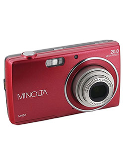 20 Mega Pixels Hd Digital Camera W/5X Optical Zoom in Red by Minolta in Red