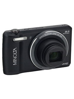 20 Mega Pixels Hd Digital Camera W/12X Optical Zoom in Black by Minolta in Black