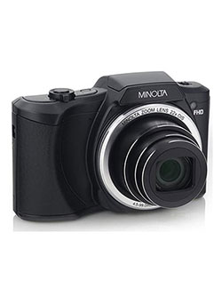20 Mega Pixels 1080Phd Digital Camera W/22X Optical Zoom in Black by Minolta in Black