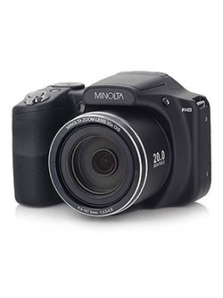 20 Mega Pixels 1080Phd Bridge Digital Camera W/35X Optical Zoom in Black by Minolta in Black
