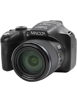 20 Mega Pixels 1080Phd Bridge Digital Camera W/67X Optical Zoom in Black by Minolta in Black, Toys
