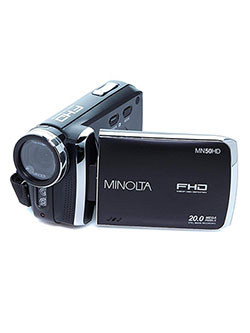 1080Phd 20 Mega Pixels Digital Camcorder in Black by Minolta in Black