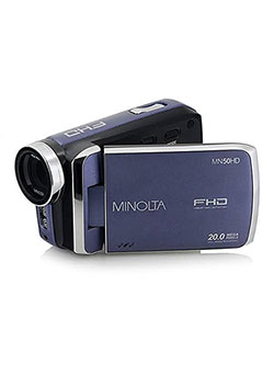 1080Phd 20 Mega Pixels Digital Camcorder in Blue by Minolta in Blue