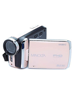 1080Phd 20 Mega Pixels Digital Camcorder in Rose Gold by Minolta in Rose gold