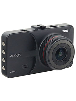 "1080P 12 Mega Pixels Car Camcorder W/3 in0"" Lcd And G-Sensor in Black by Minolta in Black"