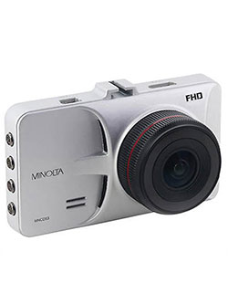 "1080P 12 Mega Pixels Car Camcorder W/3 in0"" Lcd And G-Sensor in Silver by Minolta in Silver"