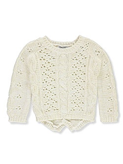 Baby Girls' Cable Open Knit Sweater by Laura Ashley in Ivory - $9.99