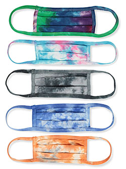 5-Pack Real Tie-Dye 100% Cotton 2 Layer Reusable Face Mask by Tie-Dye Living, Accessories